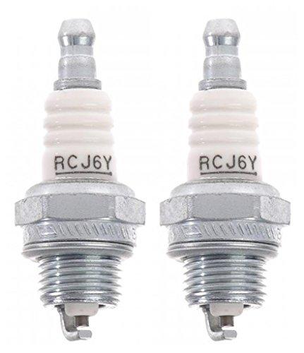 Ryobi RY08510 Homelite UT-20760 Trimmer Replacement (2 Pack) 852 - RCJ6Y Spark Plug # 870174001-2pk