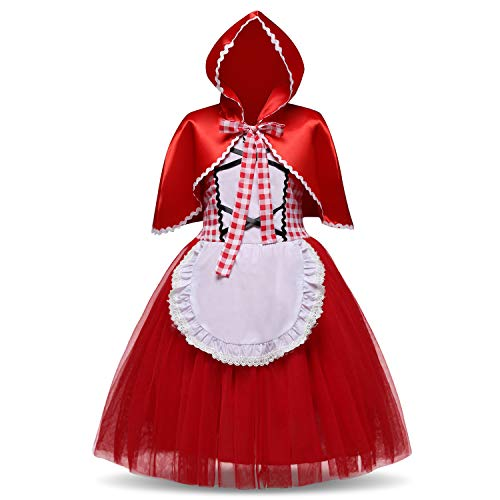 TTYAOVO Aurora Princess Cosplay Little Red Riding Hood