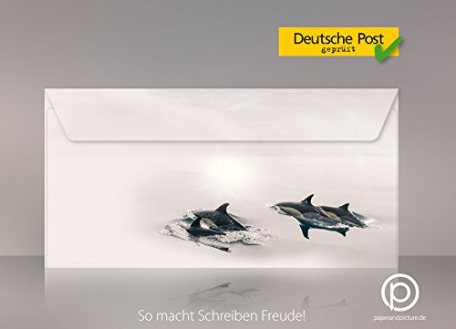 Springende Delfine, 200-tlg. 200-tlg. 200-tlg. Komplett-Set 100 Blatt Motivpapier  100 Umschläge DIN LANG B0038YVS0G   Up-to-date Styling  318c91