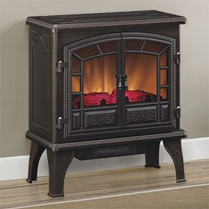 Duraflame Liberty Bronze Electric Fireplace Stove With Remote Control Dfs 750 13