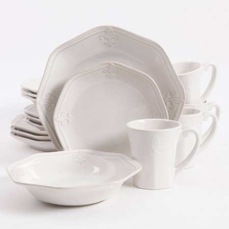Better Homes and Gardens Country Crest 16-Piece Dinnerware Set (Better Homes Gardens Dinnerware)
