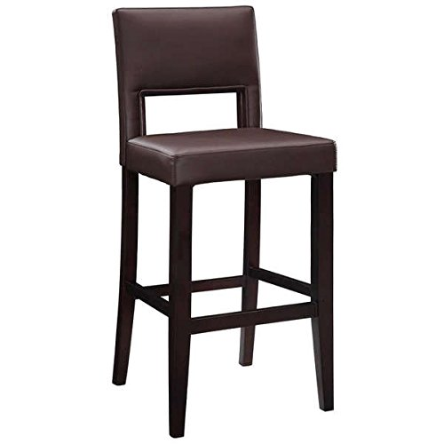 Bar Stool / Counter Height Barstool, Contemporary Style Zeta Stationary Counter Stool, Dark Brown PVC OSLN1091, Assembly Required