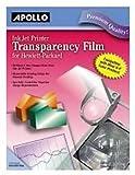Apollo Ink Jet Printer Transparency Film CG7031S-20 20 pack