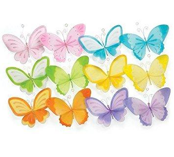 Set of 12 Assorted Hanging Butterflies 10