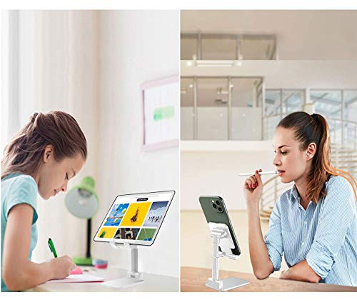 Babacom Handy Ständer, Tablet Ständer Verstellbare Winkel Höhe Aluminium Kratzfest kompatibel,Halterung für Ipad Phone,Samsung,Huawei,Xiaomi