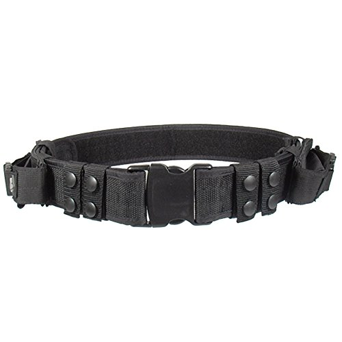 (UTG Heavy Duty Elite Law Enforcement Pistol Belt, Black)