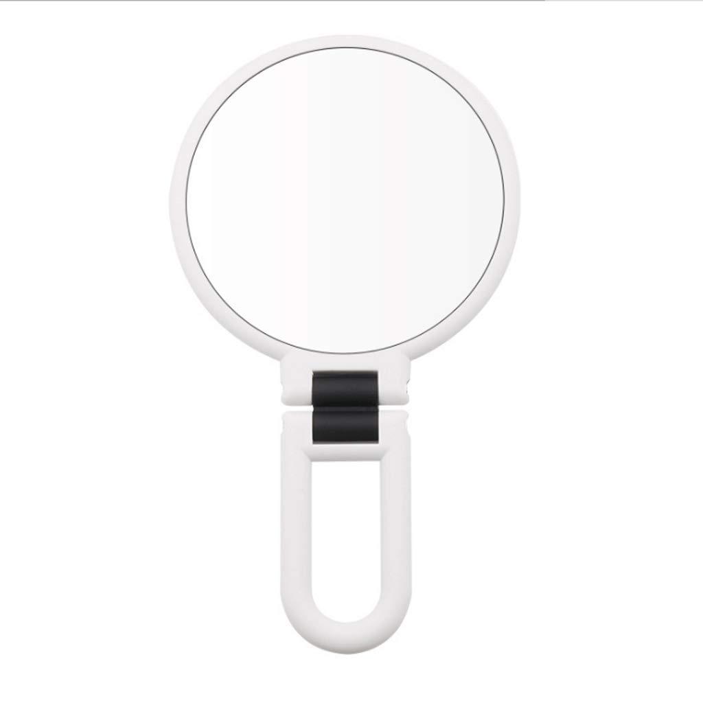Espejo de vanidad de Cara Doble Cara, Lupa, Cara de Lupa de Doble Cara, 15 Veces, 10 Veces exprimido, espinilla, artefacto, Herramienta para el acné, Belleza (Color : Morado, Tamaño : 15x) e26404