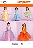 Simplicity 1303 Girl's Halloween Costume Princess Dress Sewing Pattern