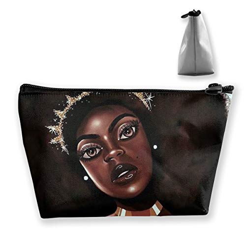 - Women Girls Toiletry Bag Organizer for Toiletry Jewelry Travel, Large Capacity Cosmetic Train Case Multipurpose Handbag Waterproof Luggage Pouch (Afro Lady African American Black Women Girls Art)