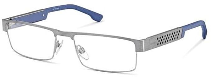 78b5954621 Amazon.com  DIESEL Eyeglasses DL5020 008 Shiny Gumetal  Clothing