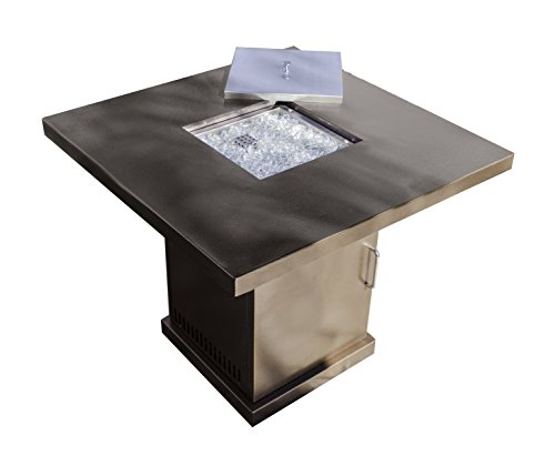 Hiland GSF-PR-PC Fire Pit in Hammered Bronze and Stainless Steel, Bronze