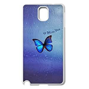 Beautiful butterfly Unique Design For Case Samsung Note 3 Cover , New Fashion Beautiful butterfly Case