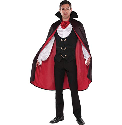 AMSCAN True Vampire Halloween Costume for Men, Large, with Included Accessories ()
