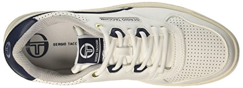 Red 51 White Leather Homme Court Blanc Sergio Navy Tacchini Basses EHqw8RwnYz