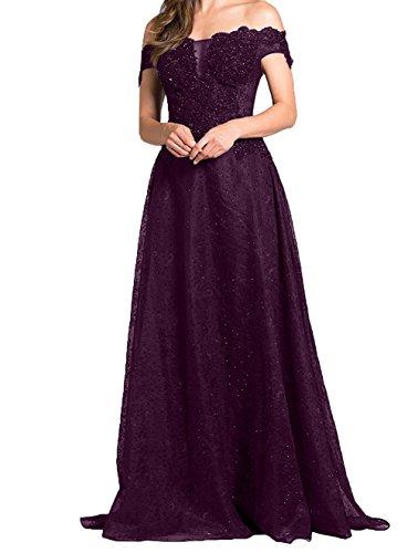 Abschlussballkleider Hochwertig Abendkleider Damen Charmant Langes Traube Linie Festlichkleider Brautmutterkleider A Promkleider Aw85qC