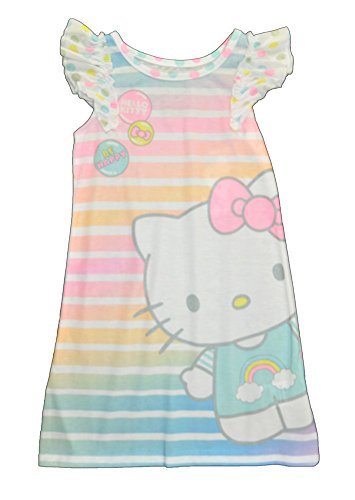 - Hello Kitty Toddler Girls' Be Happy Sleeveless Nightgown, White, 2T