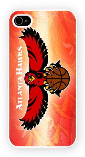 Atlanta Hawks Art Design, iPhone 4 4S, Etui de téléphone mobile - encre brillant impression
