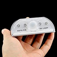 Auto PIR Sensor de luz LED, Auto PIR puerta ojo de la cerradura ...