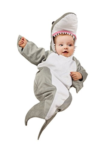 Underwraps Costumes Baby's Shark Bunting Costume, Grey/White, Infant]()