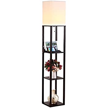 Amazoncom artiva usa elliot modern design 63 inch java for Amazon floor lamp shelf