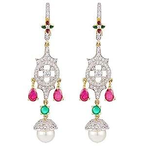 Aurora Women's Alloy Diamond Earring