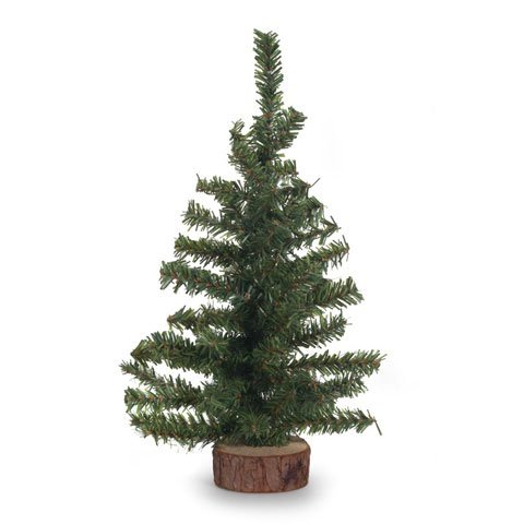 Bulk Buy: Darice Home for Holidays Minature Christmas Canadian Pine Tree w/ Base 60 Tips Green 12in. (3-Pack) DS-6258 by Darice (Image #1)