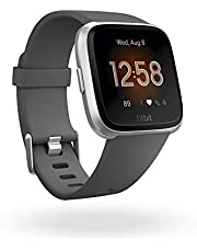Fitbit Versa Lite Health & Fitness Smartwatch with Heart Rate, 4+ Day Battery & Water Resistance, Grey (Charcoal/Silver Aluminum)