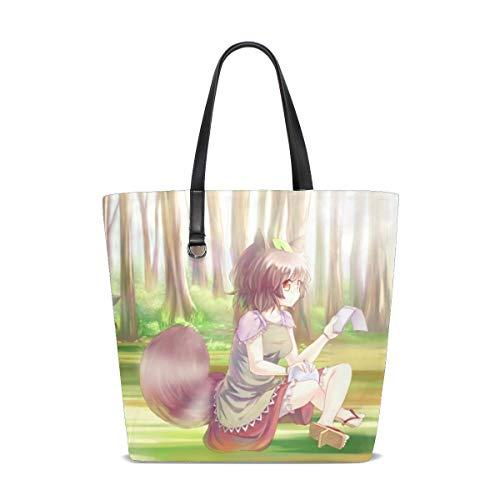 Maxm Chen Futatsuiwa Mamizou Girls Anime Tote Bag Purse Handbag For Women Girls