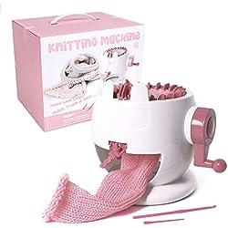 QINGKONG Knitting Kit Machine Round Smart Weaving Rotating Knitting Loom DIY Scarf Hat Sock for Adults and Kids (22 Needles)