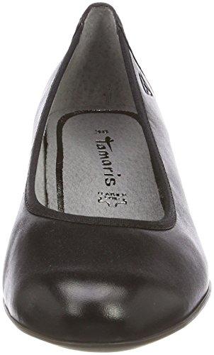 Tamaris Donna Nero Con Scarpe black Tacco 22421 Leather zzfqUxa8w