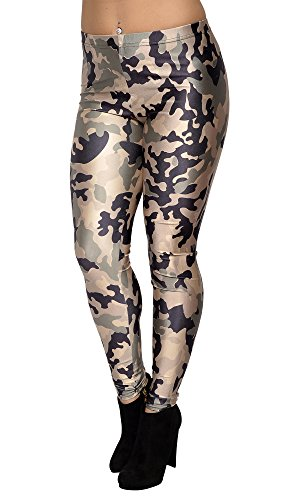 BadAssLeggings Womens Leggings Medium Green