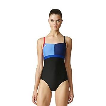 8a4a706803 Adidas Girls NGA Swimsuit - Black   Collegiate Royal Size 28  Amazon ...