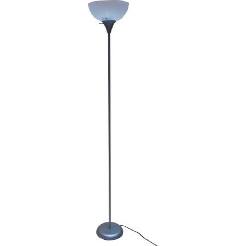 Mainstays 71 Floor Lamp, Silver Silver