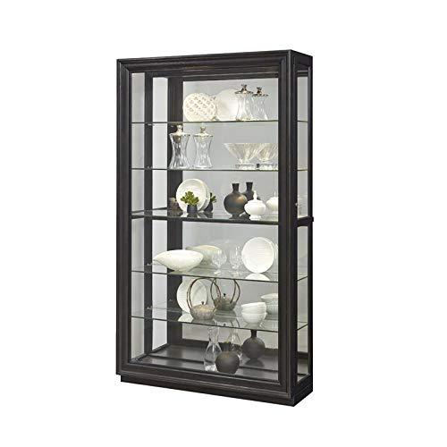 Pulaski P021553 Rockford Mirrored Two Way Sliding Door Curio Cabinet 45.9'' x 14.8'' x 80.0''
