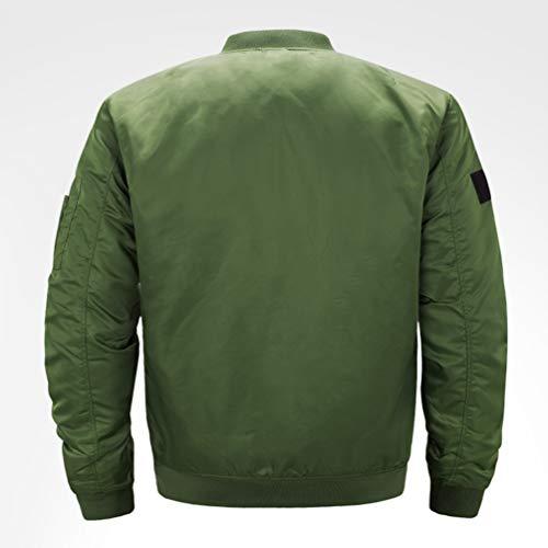 Cappotti Militare E Leggeri All'aperto S Uomo Kairuun Sportivo Dimensione Bomber Verde Casual Giacca 5xl UC8pFqWwxB