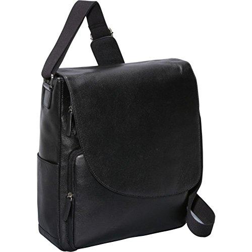 Bellino Max Messenger Bag (Black) (Bellino Leather Messenger Bag)
