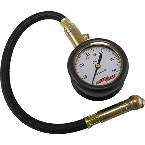 Deluxe 0-60 PSI Ecklers Premier Quality Products 61-253835 Competition Tire Gauge With Hose and Bleeder