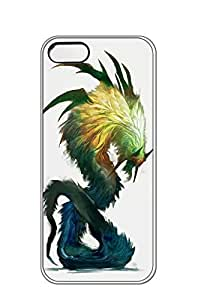 AWU DIYiphone 5/5s case -cobaltplasma Mesoamerican Aztec serpent god monster beast creature animal Create your own roleplaying game material -Slim Smooth PC Hard Case Cover foriphone 5/5s