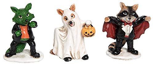 ShopForAllYou Figurines and Statues Miniature Fairy Garden Halloween Dogs in Costumes ()