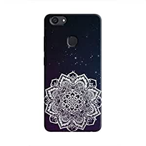 Cover It Up Rangoli Dreams Hard Case For Vivo V7 Plus - Multi Color