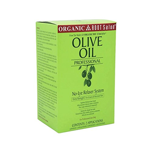 Organic Root Stimulator Olive Oil Professional No-Lye Relaxer System, Extra Strength, 48 Ounce Professional Relaxer System
