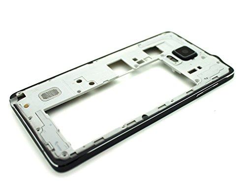 SBOS Samsung Galaxy Note 4 N910V Black Back Housing Frame Rear Camera Panel Cover Bezel [Audio Jack and Speaker] - for Samsung Galaxy Note 4 IV [Verizon]