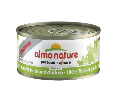 Almo Nature Tuna/Chicken Can Cat Food, Pack of 24 (70g) by Almo Nature