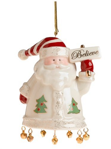 Image Unavailable - Amazon.com: Lenox Santa Believe Porcelain Ornament: Christmas
