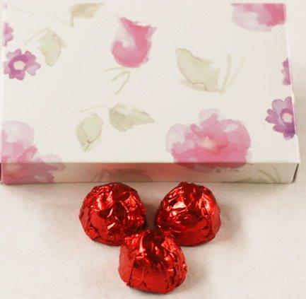 Pastel Chocolate Cherries - Scott's Cakes White Chocolate Covered Amaretto Cherries in a 1 Pound Pastel Flower Box