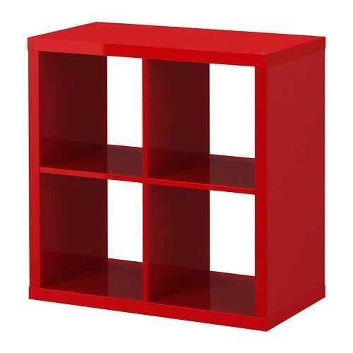IKEA Kallax - Estantería, estantería, blanco, perfecto para cestas o cajas, high gloss red, SHELVING UNIT: Amazon.es: Hogar