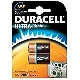 Duracell DL123A Lot de 2piles lithium Ultra CR123A/EL123A 3 V pour performances de longue durée Noir/cuivré
