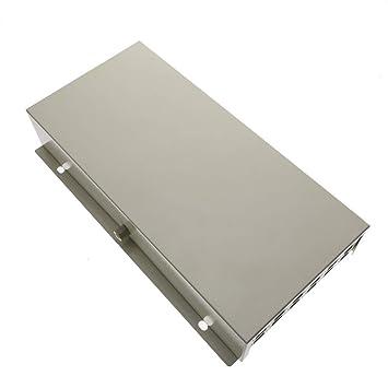 Cablematic - Caja de terminales de fibra óptica metálica beige de 12 SC: Amazon.es: Electrónica