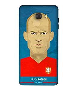ColorKing Football Robben Holand 01 Blue shell case cover for Samsung C9 Pro