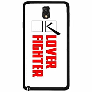 Lover Not Fighter- Plastic Phone Case Back Cover Samsung Galaxy Note III 3 N9002 by lolosakes